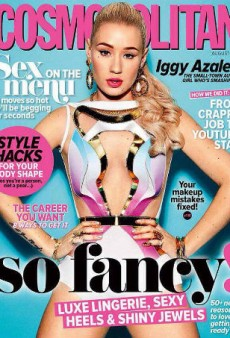 How Long Can You Stare at Iggy Azalea's Ultra-Bright Cosmopolitan Australia Cover Before Going Blind?