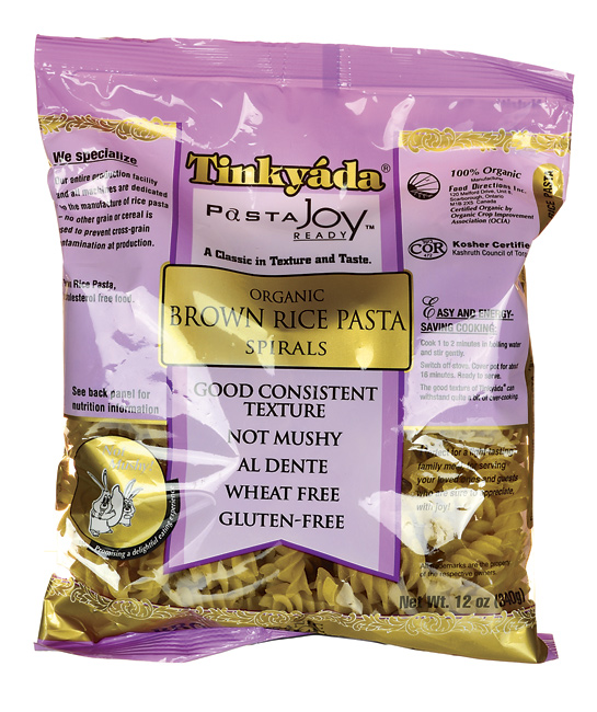 Tinkyada brown rice pasta bag