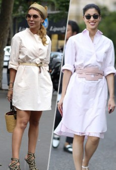 Get Inspired: Wear Your Shirt Dress Like a Street Style Star