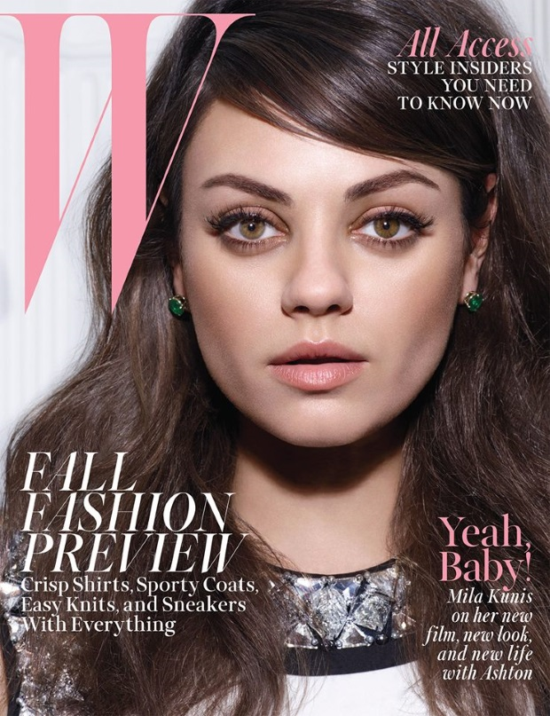 W Magazine Mila Kunis Michael Thompson