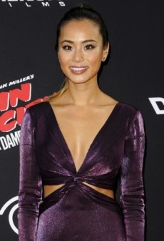 Jamie Chung Makes a Plum Statement in Pamella, Pamella Roland