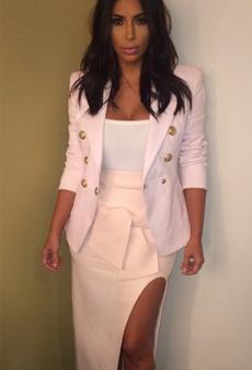 Kim Kardashian Rocks Baby Pink Toni Maticevski