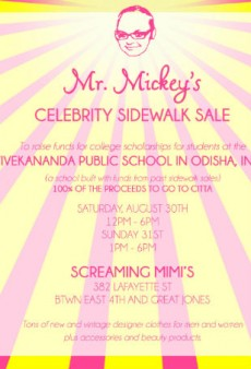 Mickey Boardman is Having His Annual Celebrity Sidewalk Sale This Weekend