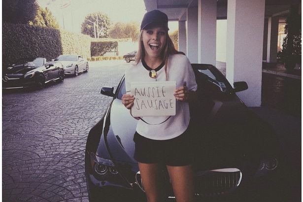 Model Megan Hawkins smiling after gunshot wound
