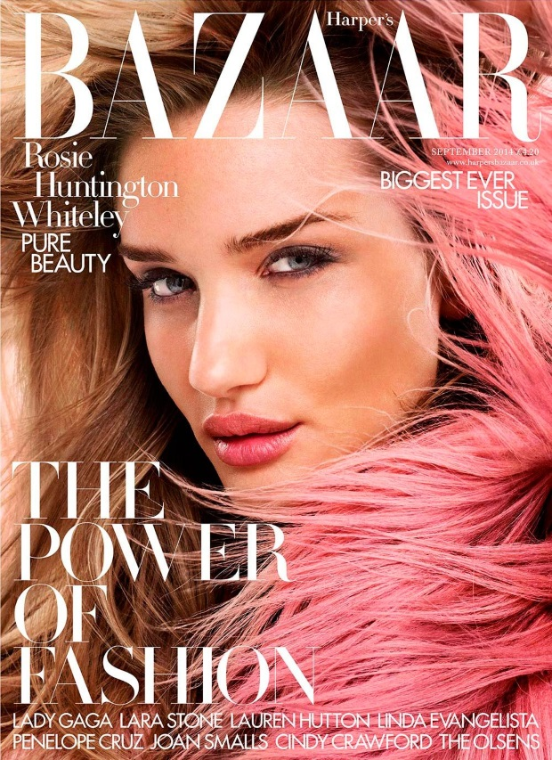 UK Harper's Bazaar September 2014 Rosie Huntington-Whiteley David Slijper