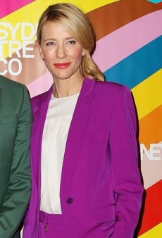 Cate Blanchett Promotes Sydney Theatre in a Purple Stella McCartney Suit