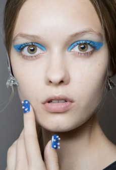 Backstage at NYFW: Psychedelic Polka Dot Manis and Bright Eyes at Honor