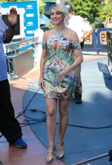 Julianne Hough Sports a Floral Zimmermann Cut-Out Dress