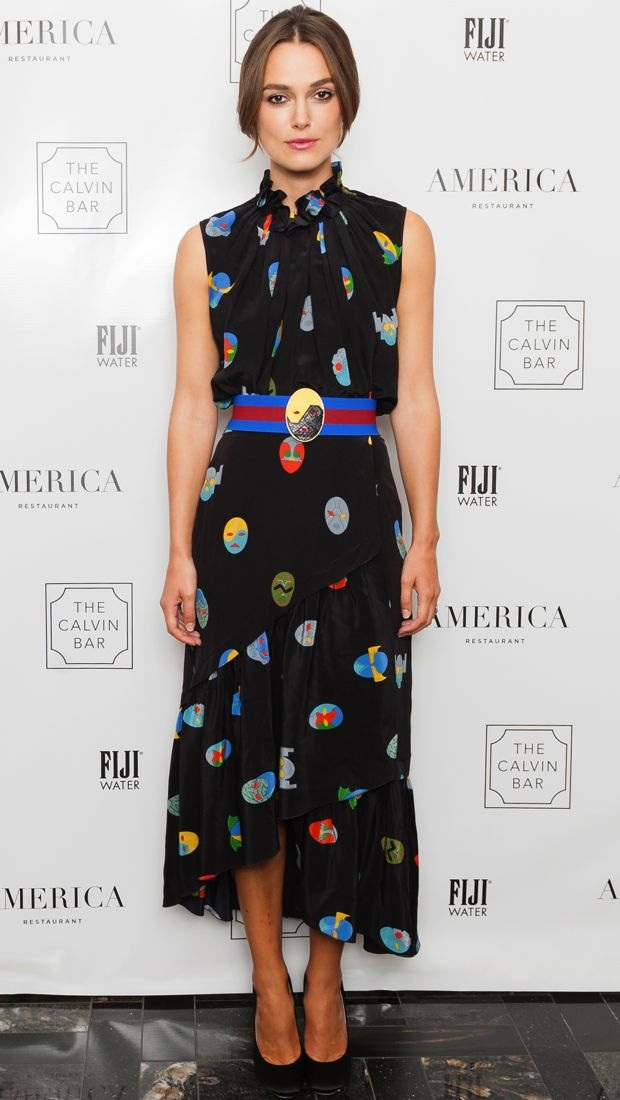 Keira Knightley wears a egg print Stella McCartney dress