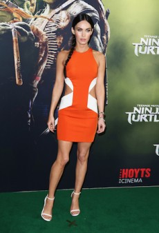 Megan Fox Rocks an Orange Bodycon for Sydney's Teenage Mutant Ninja Turtles Premiere