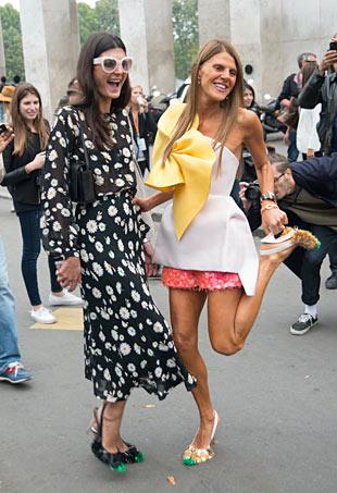 PFW Street Style Giovanna Battaglia & Anna Dello Russo