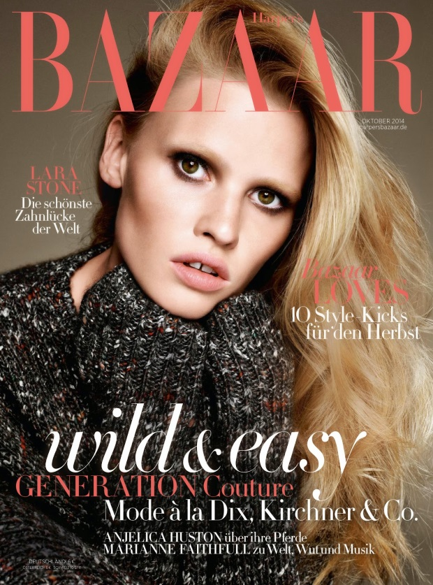 Harper's Bazaar Germany Oct 14 Lara Stone