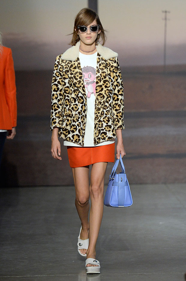 Leopard pieces at Coach Spring 2015
