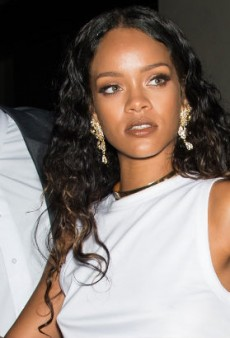 Rihanna Came, Left at Last Night's Versus Versace Party