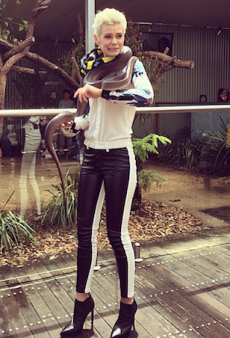 Model Kate Peck Befriended a 2.5m Snake for CanTeen's Dare to Be Brave Campaign