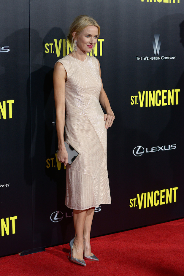 Naomi Watts Pleases in Nudes and Metallics for the 'St. Vincent' New York Premiere