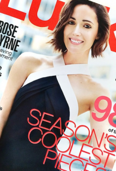"Rose Byrne Rehashes ""Bad"" Teenage Style Memories as Lucky Magazine's November Cover Girl"