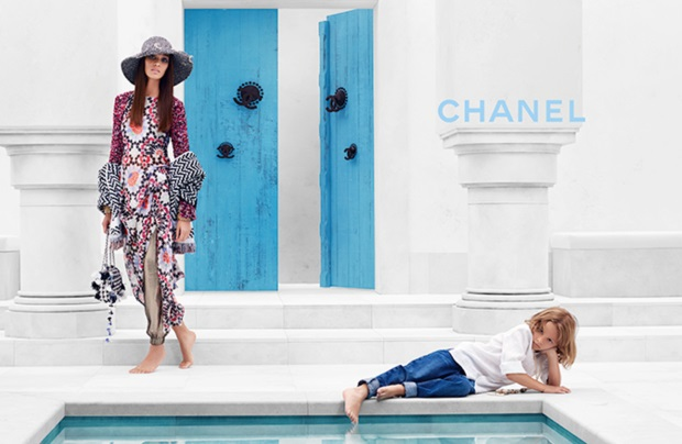 Karl Lagerfeld Shoots Joan Smalls and Hudson Kroenig for Chanel's Resort 2015 Campaign (Forum Buzz)