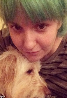 Lena Dunham Dyed Her Hair Green!