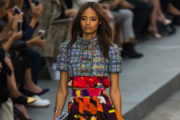 Malaika Firth walking the runway