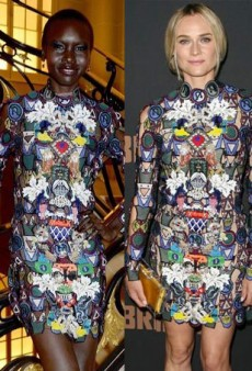 Style Showdown: A Trio of Stars Stop Traffic in Mary Katrantzou's Street Sign Dress and More Matching Celebs