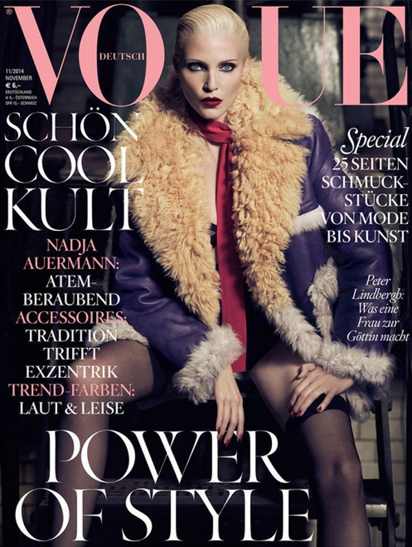 Vogue Germany November 2014 Nadja Auermann