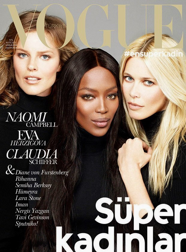 Vogue Turkey November 2014 Noami, Claudia & Eva