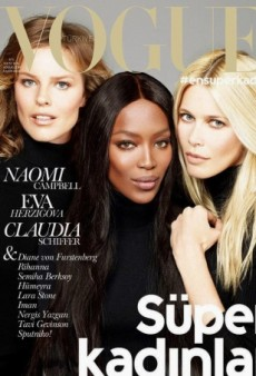 Naomi, Claudia and Eva Reunite on Vogue Turkey's November Cover (Forum Buzz)