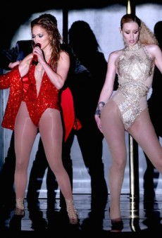 "WATCH: Iggy Azalea and Jennifer Lopez Perform ""Booty"" in Revealing One-Pieces at the 2014 AMAs"