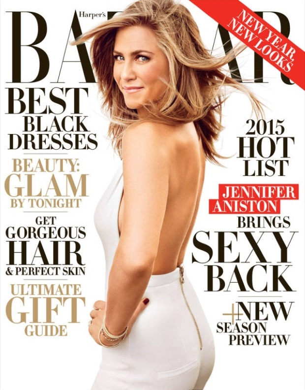 US Harper's Bazaar Dec 14 Jan 15 Jennifer Aniston