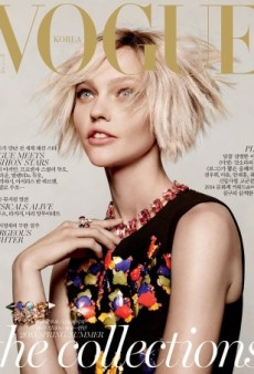 Sasha Pivovarova Resembles a 'Runaway from a Psych Ward' on Vogue Korea's Cover (Forum Buzz)