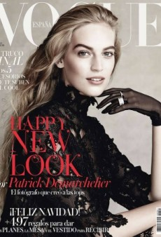 Patrick Demarchelier Photographs Vanessa Axente for Vogue Spain's December Cover (Forum Buzz)