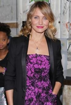 Cameron Diaz Promotes 'Annie' Wearing a Bottega Veneta Floral Dress