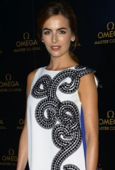Camilla Belle Goes Graphic in an Andrew Gn Spring 2015 Dress