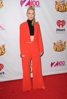 Iggy Azalea Stands Loud and Proud in Bright Orange for Z100's 2014 Jingle Ball