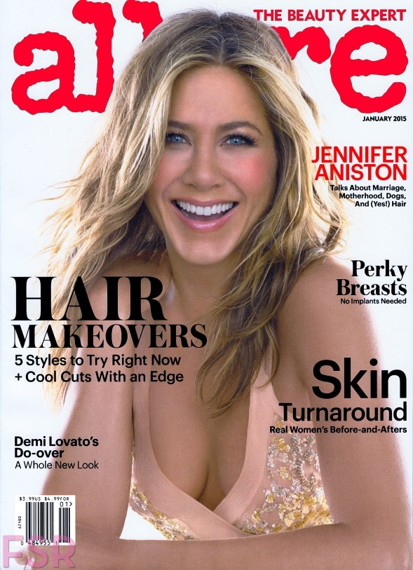 Allure January 2015 Jennifer Aniston