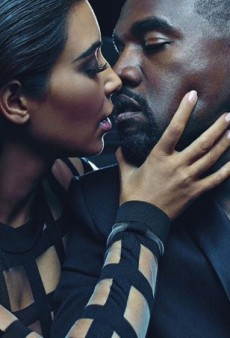 See Kim and Kanye Posing for Balmain's Spring 2015 Menswear Campaign