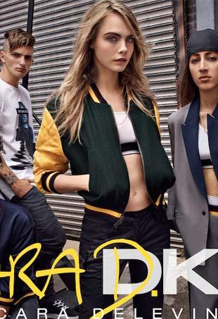 Image: Cara Delevingne x DKNY, courtesy DKNY