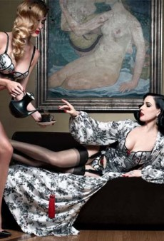 Dita Von Teese Designs Lingerie Collection with Christian Louboutin