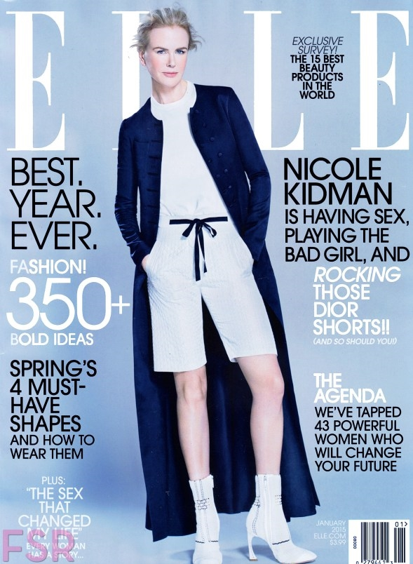 US Elle January 2015 Nicole Kidman