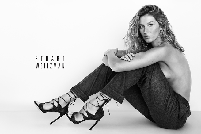 Gisele Bündchen Takes Off Her Top for Stuart Weitzman