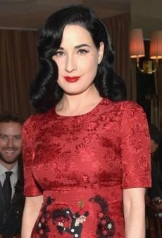 Dita Von Teese Scores a Front Row Seat in Dolce & Gabbana