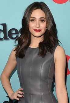 Emmy Rossum Goes Gray in J. Mendel