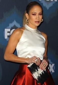 Jennifer Lopez Cuts an Old-School Silhouette in Noir Sachin & Babi