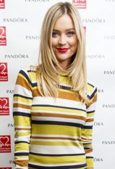 Laura Whitmore Shows Her Stripes in Jasper Conran