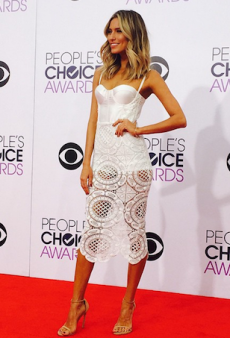 Renee Bargh is Smokin' in Misha Collection at People's Choice Awards