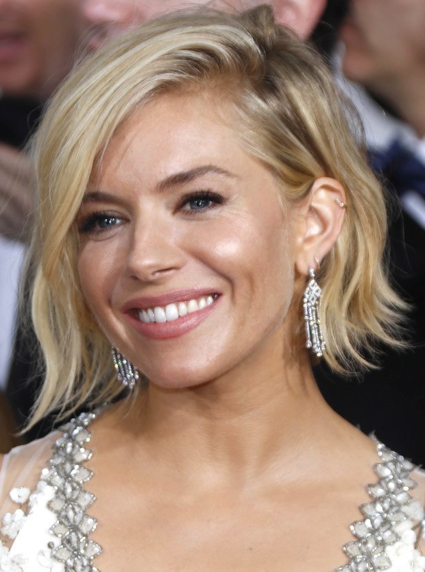 Get the Look: Sienna Miller's Hair and Makeup at the 2015 Golden ...