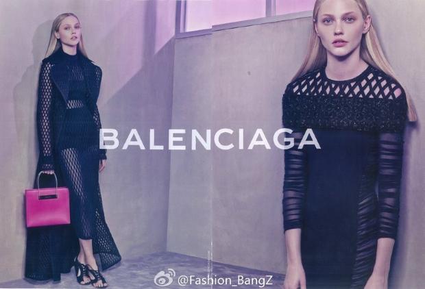 Ad Campaign Balenciaga Spring 2015 Sasha Pivovarova
