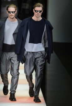 Giorgio Armani Men's Fall 2015 Runway