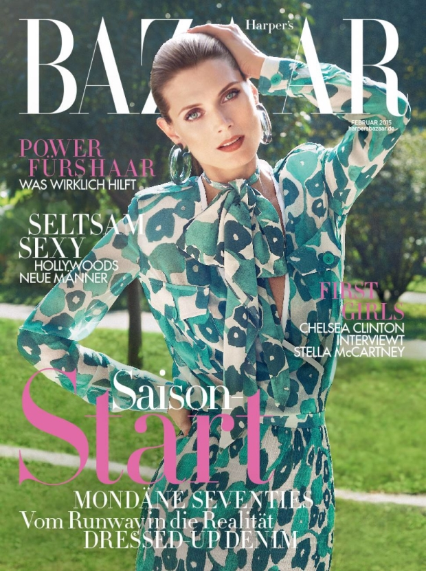 Harper's Bazaar Germany February 2015 Malgosia Bela